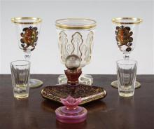 A group of Bohemian glass, (7)