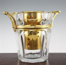 A Baccarat crystal Moulin Rouge design champagne ice bucket, 23.5cm
