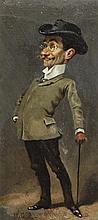 William Giles Baxter (1856-1888) Caricatures of gentlemen, 10.5 x 5.5in.