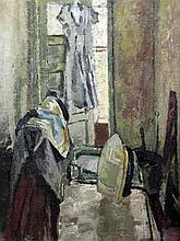 § Duncan Grant (1885-1978) Interior with ironing board, 28 x 22in.