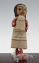 A Peruvian Chancay woven cloth doll, believed to be pre-Columbian in origin, 12in.