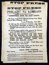 Six copies of 'Stop Press, Poblacht Na h-Eireann', 19.5in x 15in.