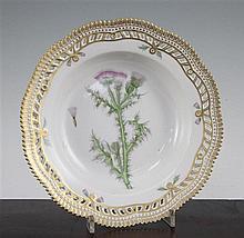 A Royal Copenhagen Flora Danica soup dish, 24.5cm.