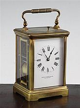 An Edwardian ormolu hour repeating carriage clock, 5.5in.