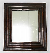 A late 17th century style walnut cushion framed mirror, W.1ft 10.25in.