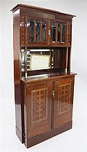 An Austrian Secessionist mahogany side cabinet, in the manner of Josef Hoffman, 6ft 2in. x 3ft 2.5in. x 1ft 3.5in.