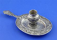 A 19th century Chinese silver chamber stick, 5.5 oz.