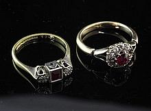 Two 1920's rings.