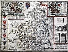 John Speed Map of Northumberland, 1610, 15.5 x 20.25in.