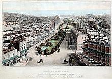 J. Bruce Bird's eye View of Brighton from the New Church, 11 x 16.5in.
