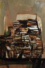 Judy Cassab (b.1920) 'Mood in Brown', 43.5 x 31.5in.