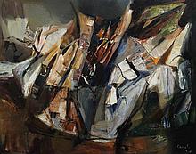 Judy Cassab (b.1920) 'Escarpement', 28 x 36in.