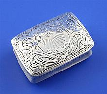 A William IV masonic related silver rectangular vinaigrette by Nathaniel Mills, 1.25in.