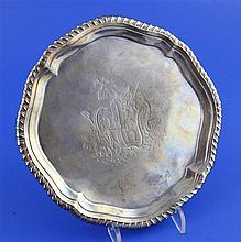 A George II silver waiter, 10 oz.