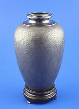 An early 20th century Japanese silver baluster vase, 6.5 oz.