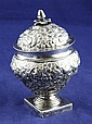 An early 19th century Maltese Ball period silver sugar vase and cover, 8 oz.