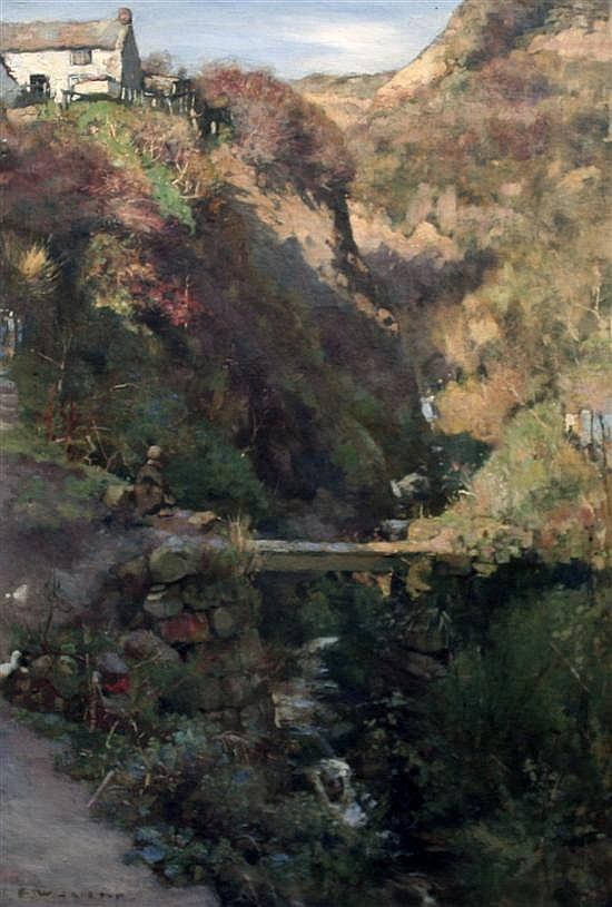 Frederick William Jackson R.B.A (1859-1918) A Yorkshire Beck, 30 x 20in.