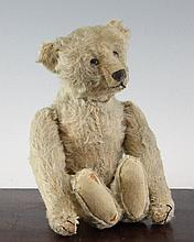 An early 20th century Steiff tumbling mechanical bear, 11.5in.