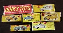A collection of seven Dinky toys: