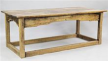 A light oak refectory table, 6ft 2.5in. x 2ft 11.5in. x 2ft 4.5in.