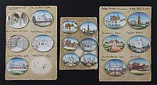 A collection of seventeen oval Indian miniatures largest 2in.