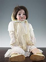 A large Simon Halbig bisque headed doll, 33.5in.