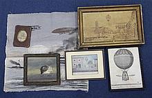 A collection of balloon and airship ephemera,
