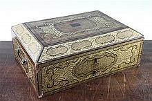 A Chinese export lacquer work box, 13.25in.