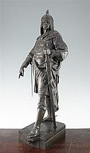 Emile Picault (1833-1915). A large patinated bronze figure of a Saracen warrior, 26.5in.