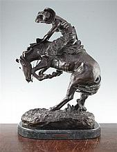 After Frederic Remington. 'The Rattle Snake', 24in.