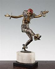 A Titze gilt patinated and cold painted bronze figure, 13.75in.