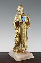 Rene Paul Marquet (French, 1875-1939). A gilt bronze and carved ivory and enamel figure, 'Princess Una', 14.5in.