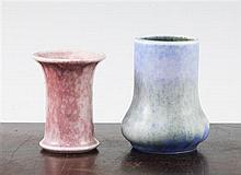 Two small Ruskin pottery vases, dated 1930 and 1932, 7.3cm and 8.5cm
