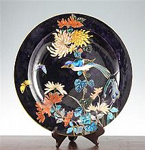 A Theodore Deck (1823-91) faience charger, post 1874, 42cm