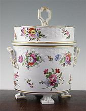 An English porcelain ice pail, early 19th century, 30cm