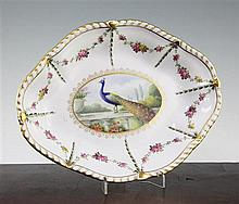 A fine Derby King Street works dish, painted by George Jessop, 28cm