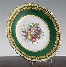 A Royal Crown Derby plate, c.1920, 22.5cm