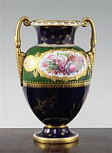 A Royal Crown Derby two handled vase, 18.5cm