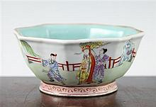 A Chinese famille rose octagonal bowl, Daoguang mark and probably of the period, 15.5cm