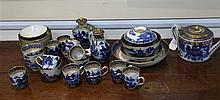 A Chinese export blue and white forty one piece tea set, Qianlong period,