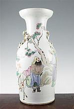 A Chinese famille rose baluster vase, Republic period, 43.5cm