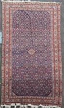 An antique north west Persian carpet, 14ft 2in 8ft 3in.