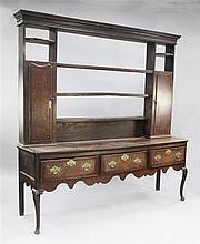 A mid 18th century Shropshire oak dresser, W.7ft H.6ft 11in.