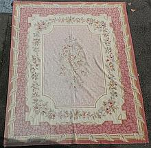A Liberty's Aubusson style carpet, 9ft 8in by 7ft 5in.