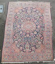 A central Persian, possibly Kashan carpet, 10ft 4in by 6ft 10in.