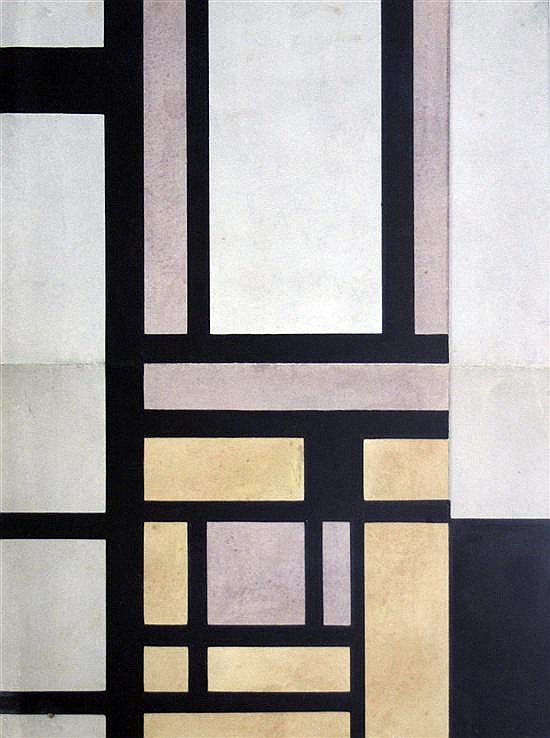Edgar Hubert (1906-1985) Abstract; design for a book jacket 10 x 7.5in.