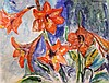 Sir Jacob Epstein (1880-1959) Study of lilies, 8.5 x 11.5in.