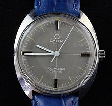 A 1960's/1970's stainless steel Omega Seamaster Cosmic manual wind wrist watch,