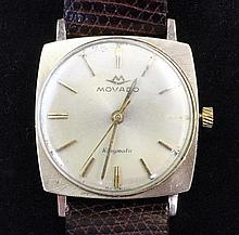 A gentleman's 14ct gold Movado Kingmatic wrist watch,