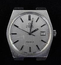 A gentleman's stainless steel Omega automatic wrist watch and bracelet,